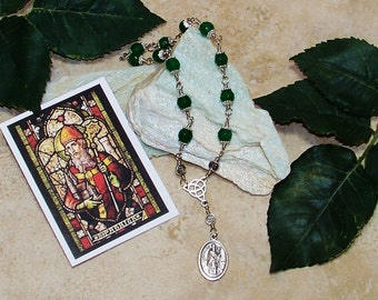 Unbreakable Traditional Catholic Relic Chaplet of St. Patrick - Patron Saint of Ireland, Engineers and Ophidiophobics