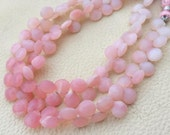Brand New,Full 8 Inch Long Strand, Amazing Quality PERUVIAN Pink OPAL Faceted Heart Briolettes, 8-9 Long,Great Quality at Low Price