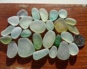 26 Pendant Pieces - Beautiful Seaham English Sea Glass - Free Shipping (4650)