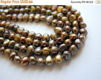ON SALE Freshwater Pearls Brown Earth Tones 5mm