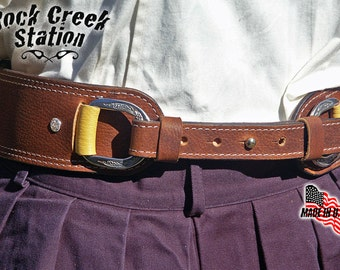 Ladies D-Ring Belt and Cuff Combo