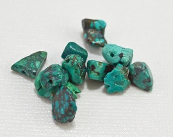 Turquoise nuggets ,7-9mm - #1902