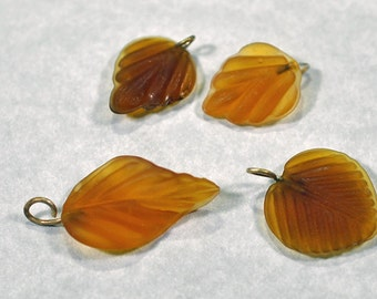 Acrylic light brown leaves, 3 styles, #703