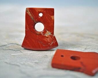 Red Jasper pendant, 38x38mm, #441