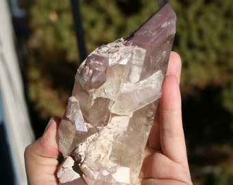 Lithium Quartz Crystal Cluster with Phantom Very Large
