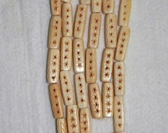 Bone, Carved Bone, Carved Bone Bead, Natural Bone, Ethnic Bead, Full Strand, 24 mm, AdrianasBeads