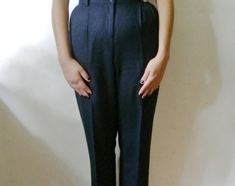 25% OFF SALE Vintage Pants Navy Blue Slacks Pendleton Size 4 X-Small Small Gift For Her