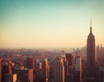 New York Photography, Fine Art Photo, Skyline, Urban, Home Decor, Architecture, Travel Photo, Large Wall Art, Print, Empire State Building