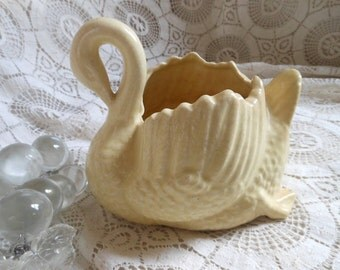 Vintage Swan Planter Made in Japan  Succulents Butter Yellow at Quilted Nest