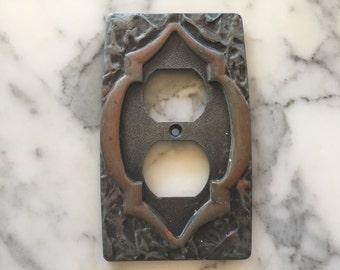 Silver Tone Switch Plate Cover . Art Nouveau Antique