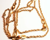 Monet Long Gold Vintage Necklace Chain Designer Vintage Jewelry