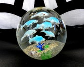 Vintage Swimming Fish Paperweight, Dynasty Gallery, Heirloom Collectibles