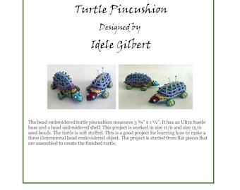 Bead Embroidered Turtle Pincushion