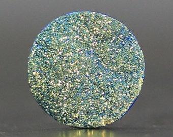 SALE Titanium Druzy Gemstone Flat Drusy, Crystallized Stone Cabochon Geode Slice Natural Stone Settings Bead Cab (11899)