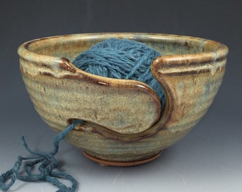 Yarn Bowl, Knitting Bowl - In Stock & Ready to Ship - Large Ceramic Knitting Yarn Bowl by Neal Pottery