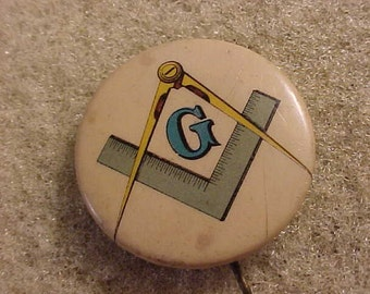 Vintage Advertising Pin Pinback Button - Mason Masonic Lodge