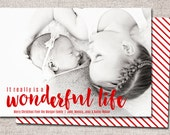 "Christmas card, Photo Christmas card, Holiday Card, Printable Christmas card, Modern Christmas card (""It really is a wonderful life "")"