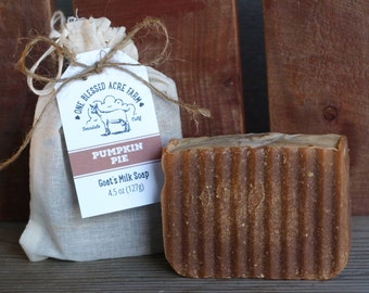 Goat Milk Soap - Pumpkin Pie - 4.5 oz.