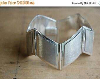 SALE Vintage 1950s Mexican Modernist sterling Popowski bracelet ∙ Popowski sterling Mexican bracelet