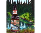 Two Hearted Ale, Gift for Boyfriend, Gift for Husband, Bell's Brewery, Michigan Beer Painting Wedding Gift, Second Anniversary Gift for Him