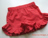 Girls Ruffle Shorts,Summer Shorts,Girls Fourth of July Shorts,Toddler Shorts,Red,Polka Dot,Toddler Shorts,Size 12MO,18MO,2T,3T,4T,5,6,7,8