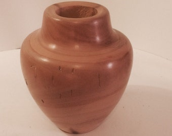 Spinning Aspen Studio Wood Turned Handcarved Vase