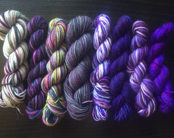 104g of Purple Mini Skeins