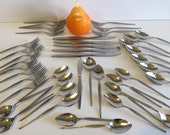 WEST BEND Shadow Weave Serving for 5 PLUS! Flatware Mid Century Flatware Mid Century Modern Silverware Delicate and Stylish at Modern Logic