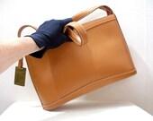 Vintage 1990s Shoulder Bag Camel Tan Jones New York Handbag Purse