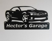 Personalized Metal Sign - 5th Generation Chevrolet Camaro - Metal Wall Art - Garage Sign - Satin Black - Man Cave