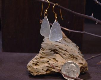 "White ""Rare"" Hydrogrosular Garnet Earrings-Ear3"