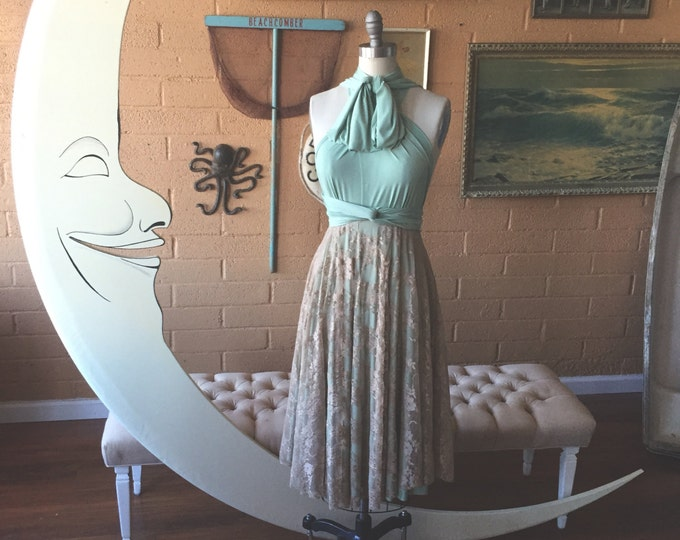 Tea Time~ Short Lace Octopus Infinity Wrap Circle Skirt Dress~ Choose your length~ straight, High/low, Asymmetrical~ All Sizes