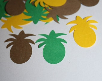 200 pieces Tropical Pineapple Die Cut Confetti Table Decor