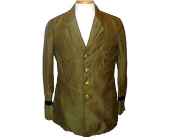 M/38 Antique Police Uniform Coat, Vintage Men's Wool Jacket, Edwardian, Medium