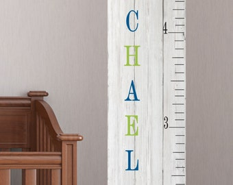 Personalize wood  Growth Chart -with name Personalized Growth Chart large size- kids decor - Growing chart - Nursery baby growth chart