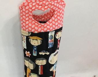 Asian Dolls Wine Bag Wine Gift Bag Hostess Gift