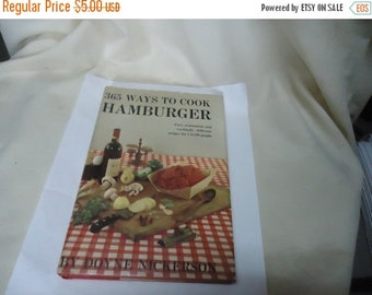 Independence Day Sale Vintage 1960 365 Ways To Cook Hamburger Book by Doyne Nickerson, collectable