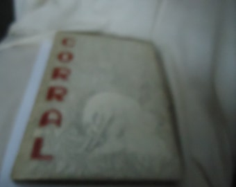 Vintage 1952 The Corral Yearbook Odessa High School, Odessa Texas, annual, collectable
