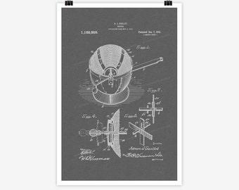 Patent Art Popper, 1914 - Large Patent Art Print Print Patent Art Print Wall Decor Vintage Art Patent Print Wall Hanging 04.