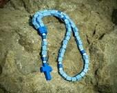 Lego Rosary - The Original Catholic Lego rosary - Blue Catholic Baptism Rosary  (Our Lady)