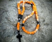 Lego Rosary - The Original Catholic Lego Rosary - Orange, Black and Gray Boys First Communion Gift