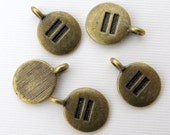 5PCS - Equality Charms - Antique Brass - 17mm - C31