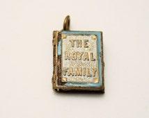 Vintage mini book.  Photograph book. British Royal Family.  Book charm