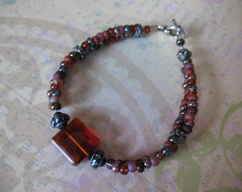 Elegant Cocoa Brown Beaded Bracelet
