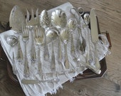 17 Fancy Antique Silverplate Mismatched Serving Pieces Silver Plate