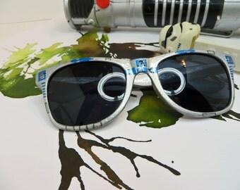 R2D2 Star Wars Inspired Silver Wayfarer Sunglasses