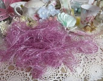 Holiday Bakers Tinsel-Pink-5 yards