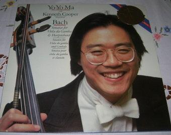 Yo-Yo Ma Bach CBS Masterworks Digital Sonatas For Viola Da Gamba Vinyl Record Album IM 37794