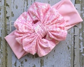 Messy Bow in Light Pink Sparkle by Ruby Blue