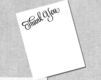Thank You Card - Instant Downloand DIY Digital Files -  #00060-TYA2ID